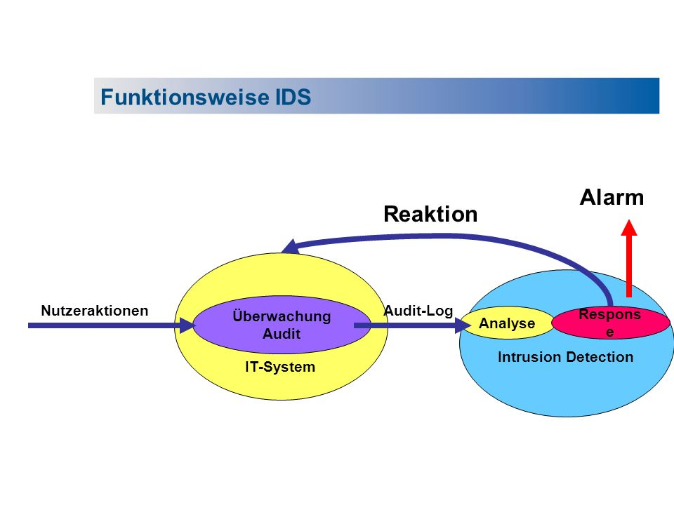 Funktionsweise IDS Alarm Reaktion IT-System Überwachung Audit