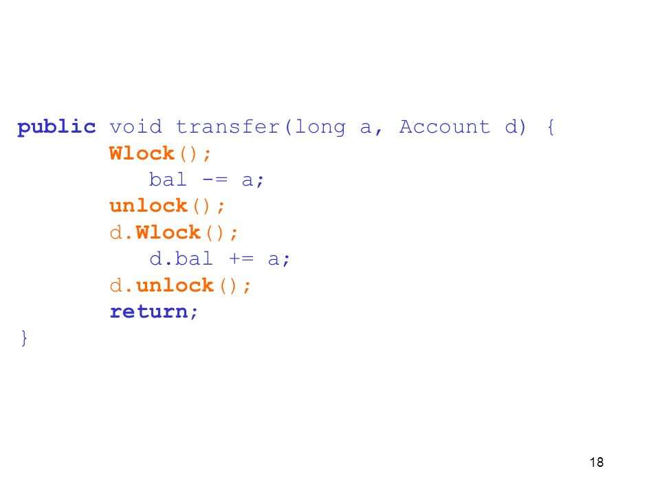 public void transfer(long a, Account d) {