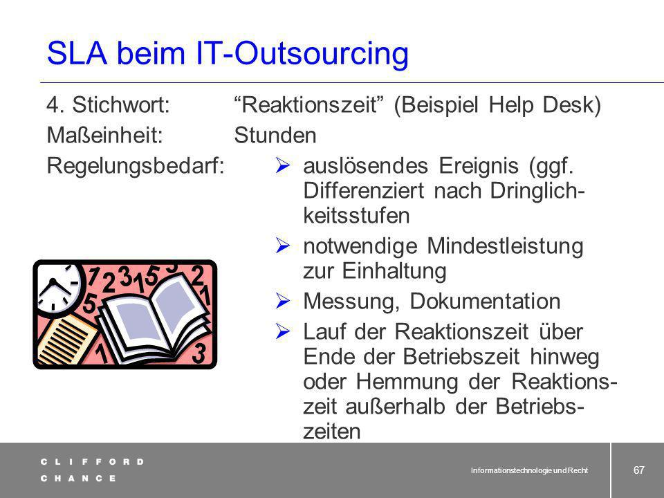 SLA beim IT-Outsourcing