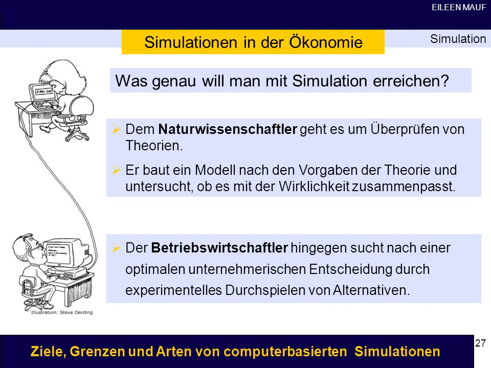 Simulationen in der Ökonomie