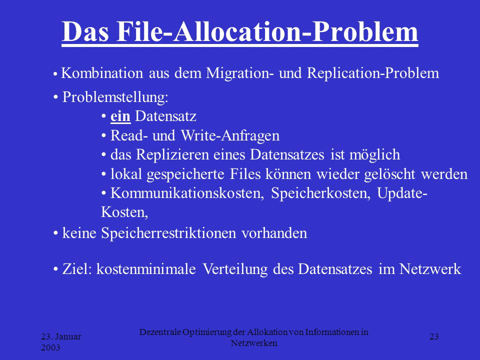 Das File-Allocation-Problem