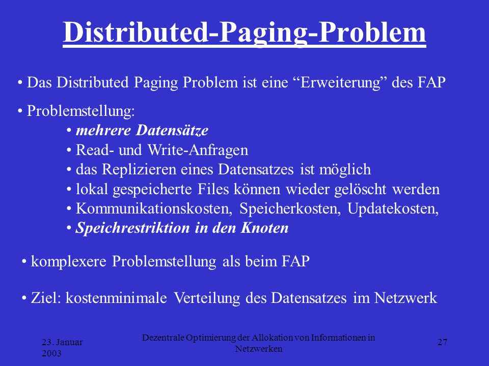 Distributed-Paging-Problem