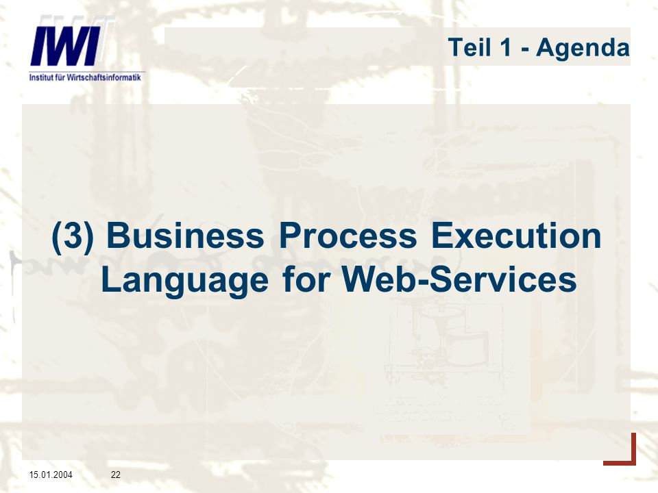 (3) Business Process Execution Language for Web-Services