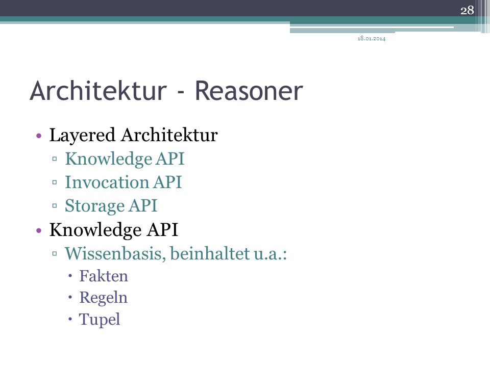 Architektur - Reasoner