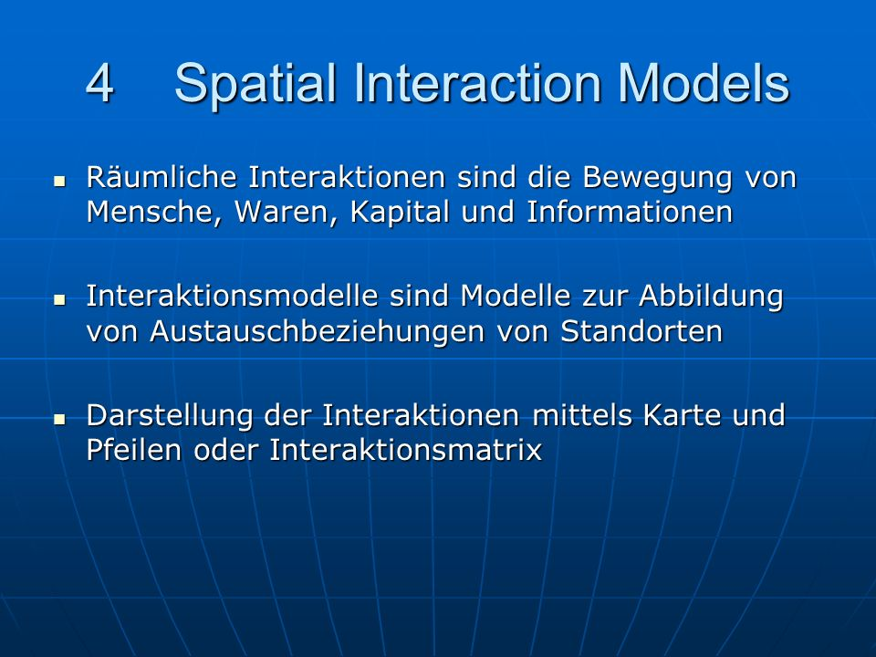 4 Spatial Interaction Models