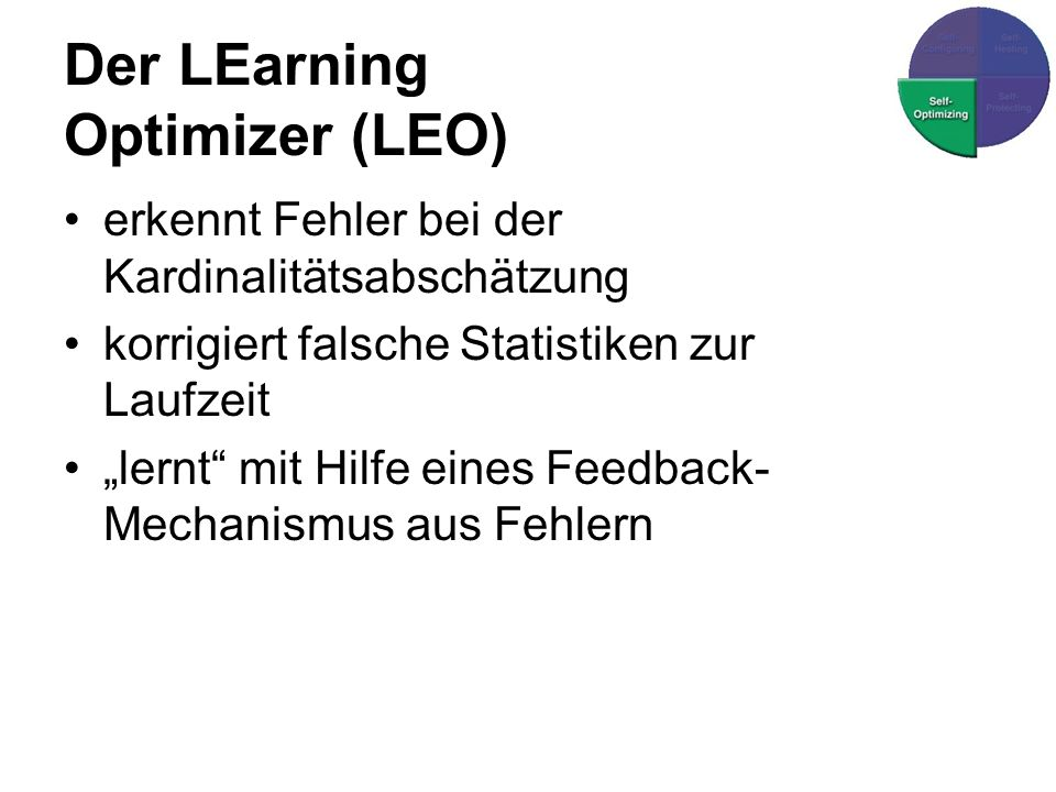 Der LEarning Optimizer (LEO)