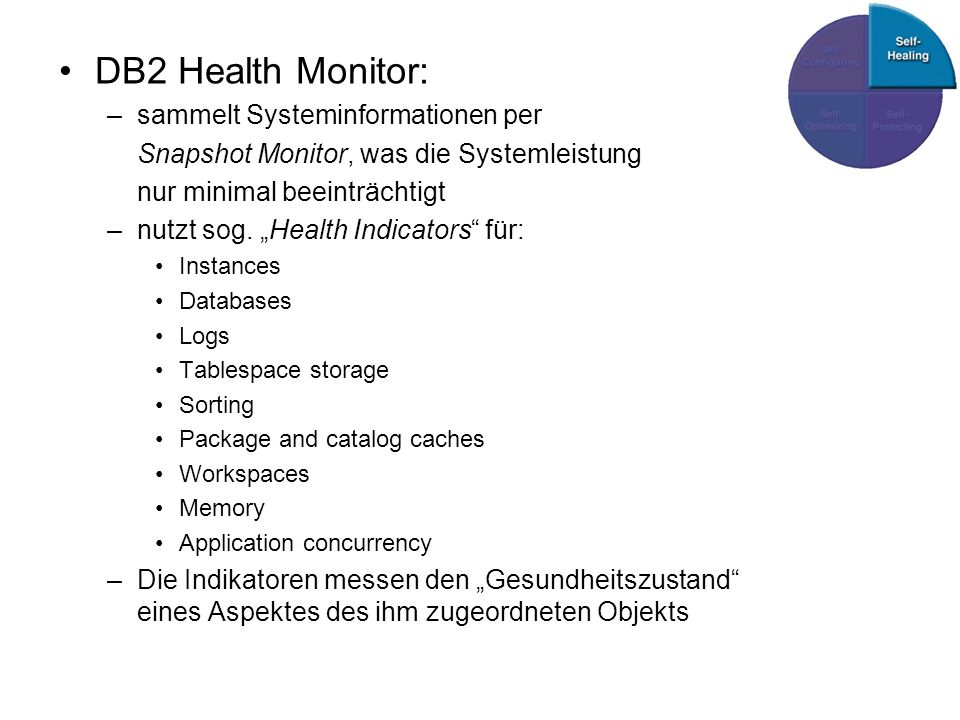 DB2 Health Monitor: sammelt Systeminformationen per