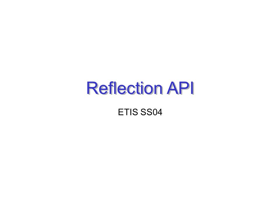 Reflection API ETIS SS04