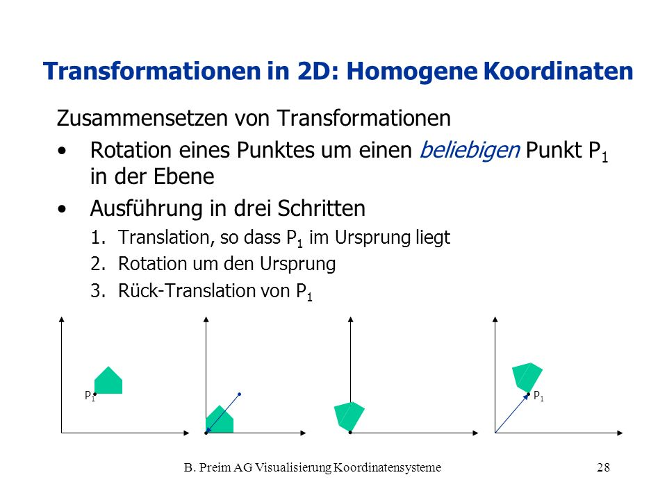 Koordinatensysteme und Transformationen - ppt video online herunterladen