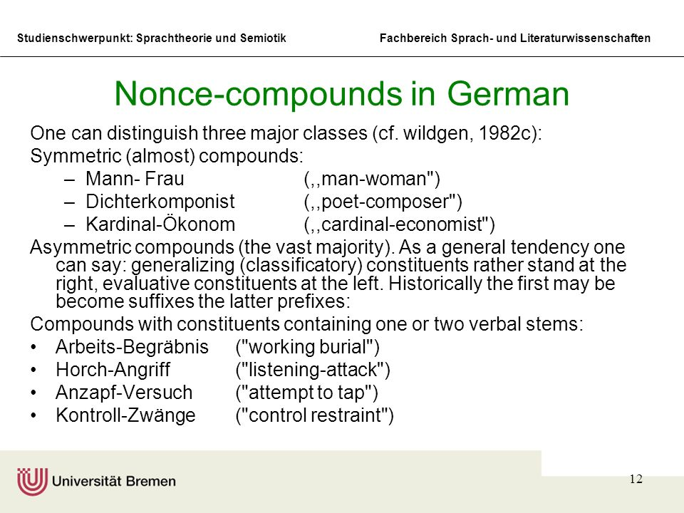 Nonce-compounds in German