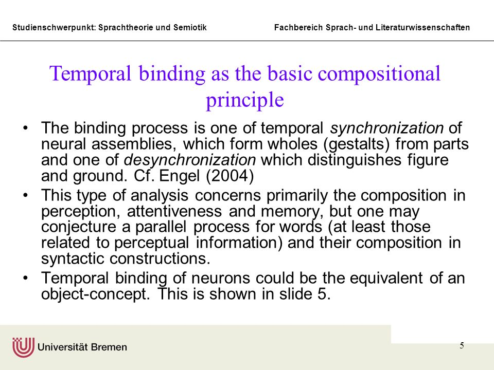 Temporal binding as the basic compositional principle