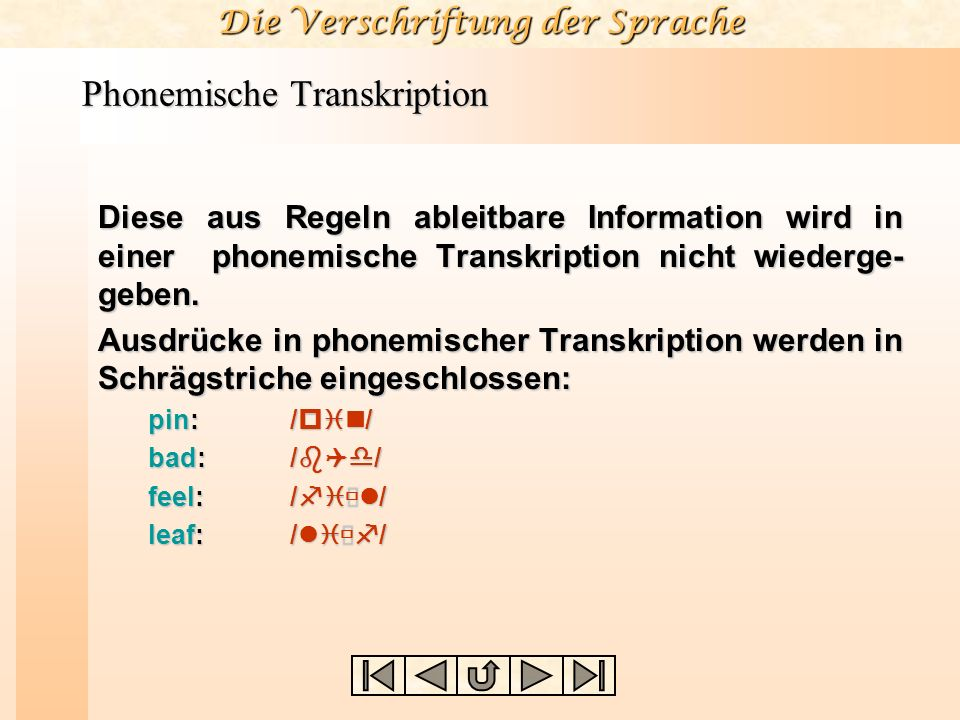 Phonemische Transkription