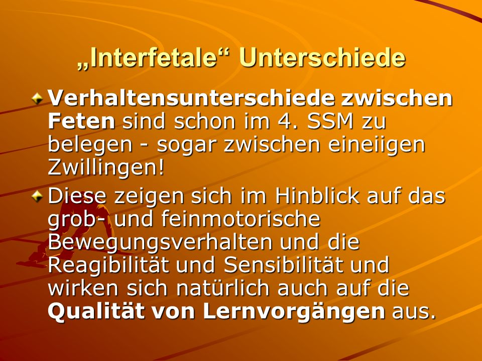 """Interfetale Unterschiede"