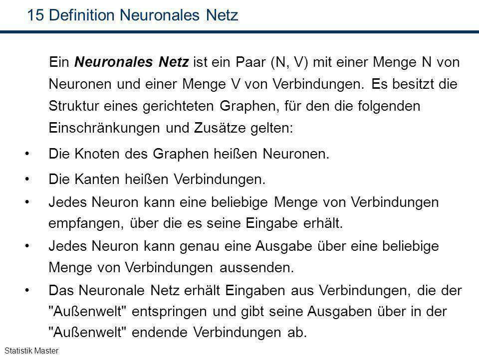 Definition Neuronales Netz