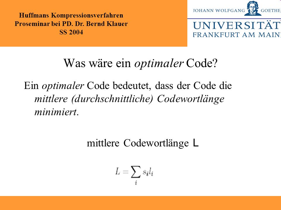 Was wäre ein optimaler Code