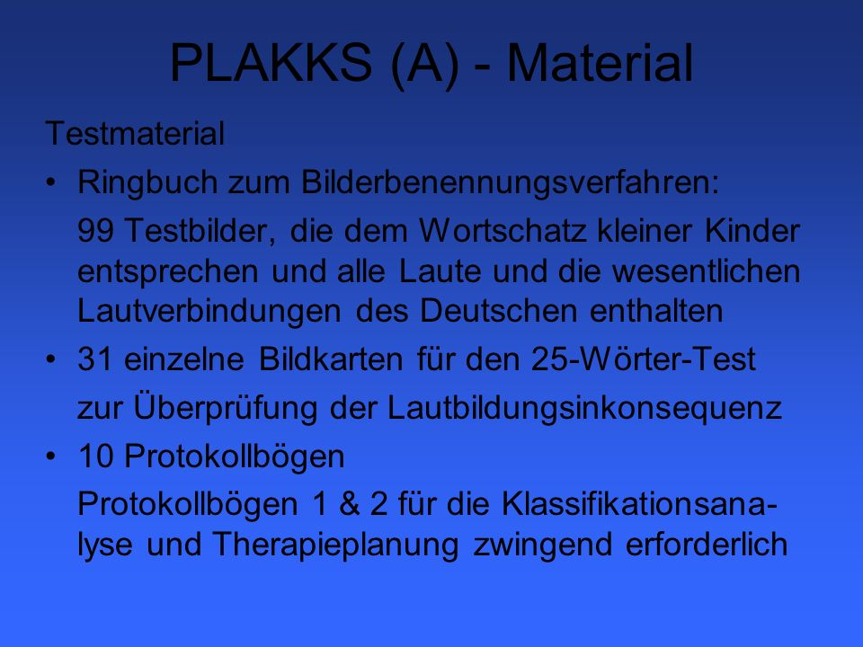 PLAKKS (A) - Material Testmaterial