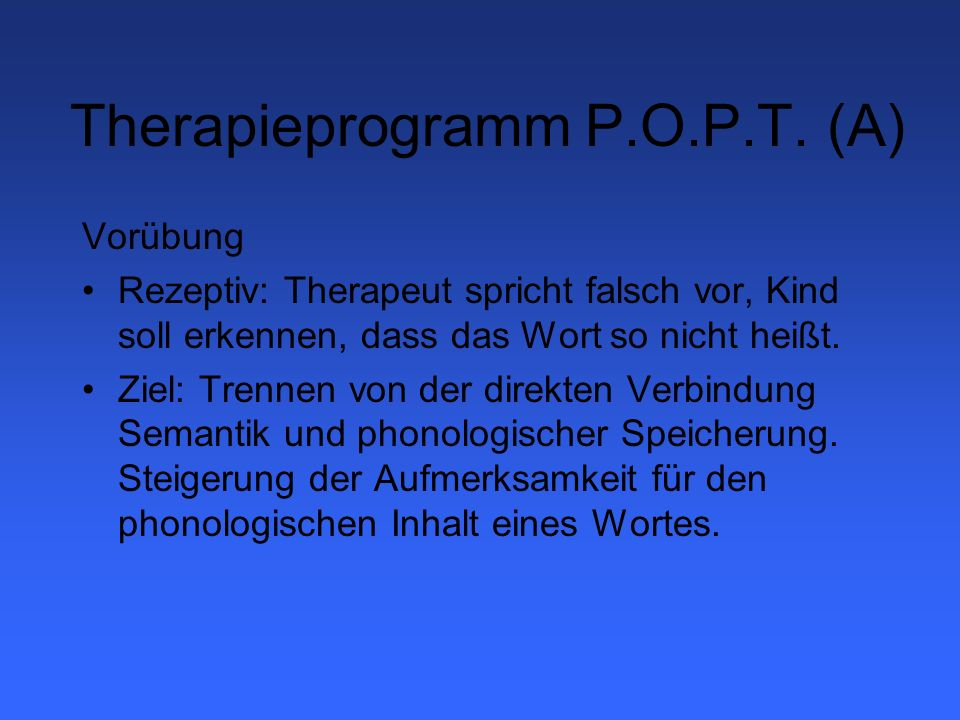 Therapieprogramm P.O.P.T. (A)