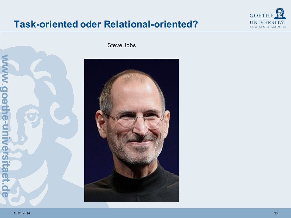 Task-oriented oder Relational-oriented