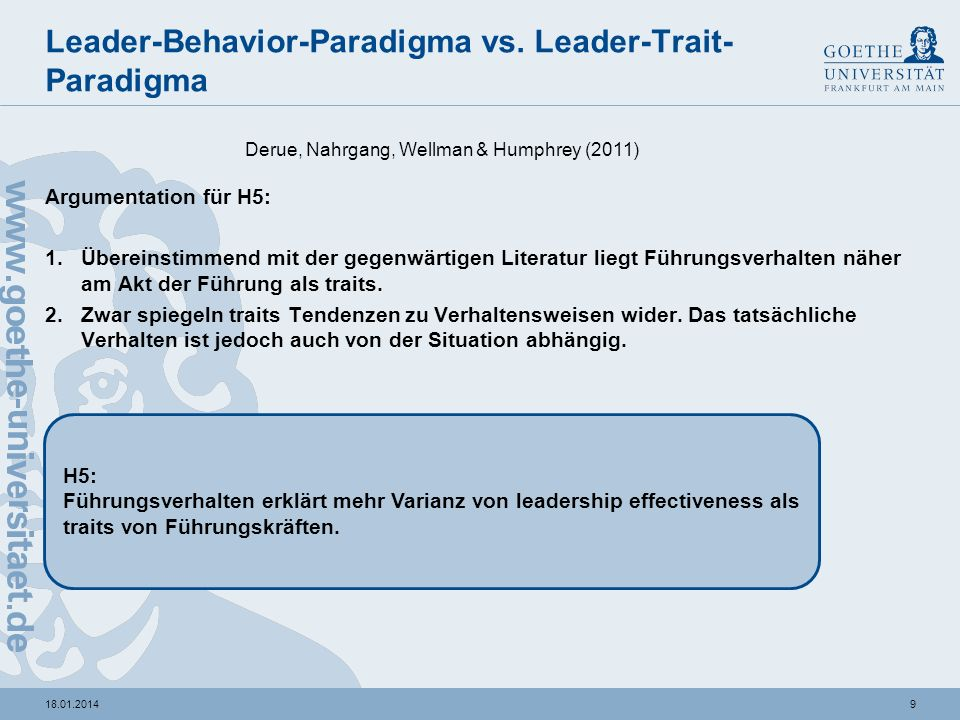 Leader-Behavior-Paradigma vs. Leader-Trait-Paradigma