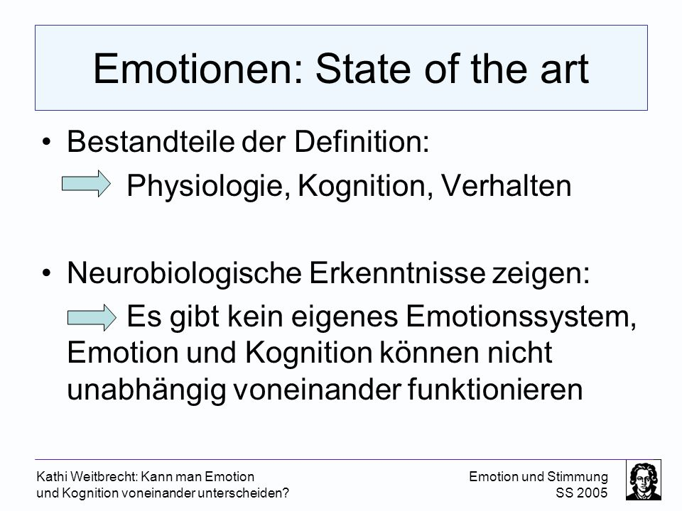 Emotionen: State of the art