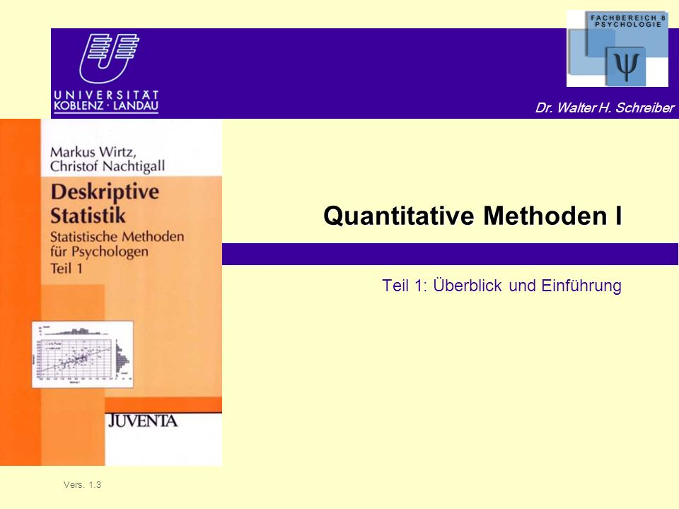 Quantitative Methoden I