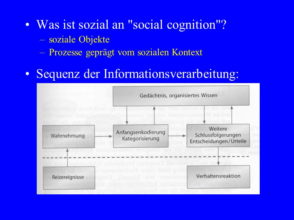 Was ist sozial an social cognition