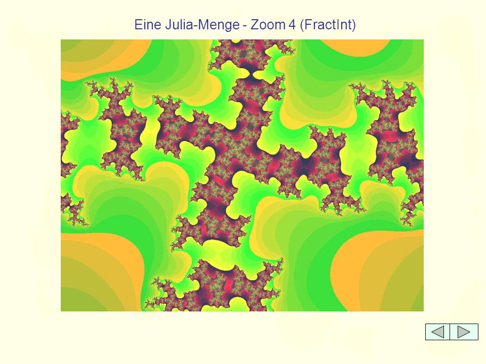 Eine Julia-Menge - Zoom 4 (FractInt)