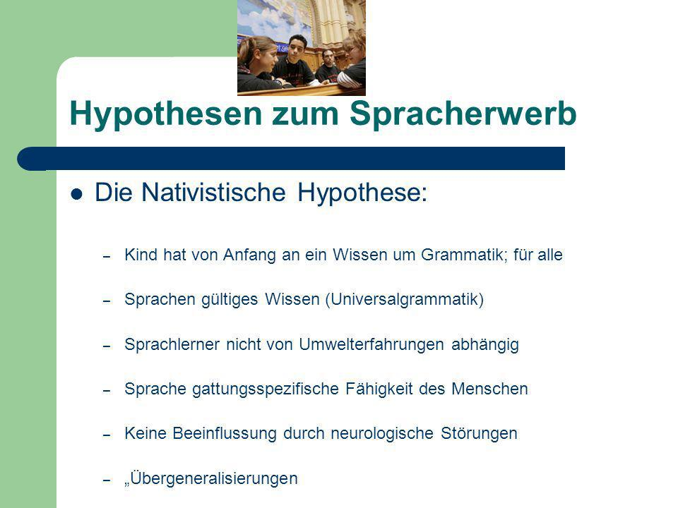 Hypothesen zum Spracherwerb