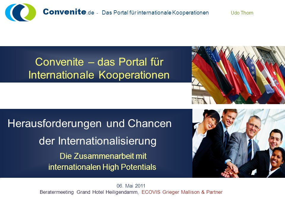 Convenite – das Portal für Internationale Kooperationen