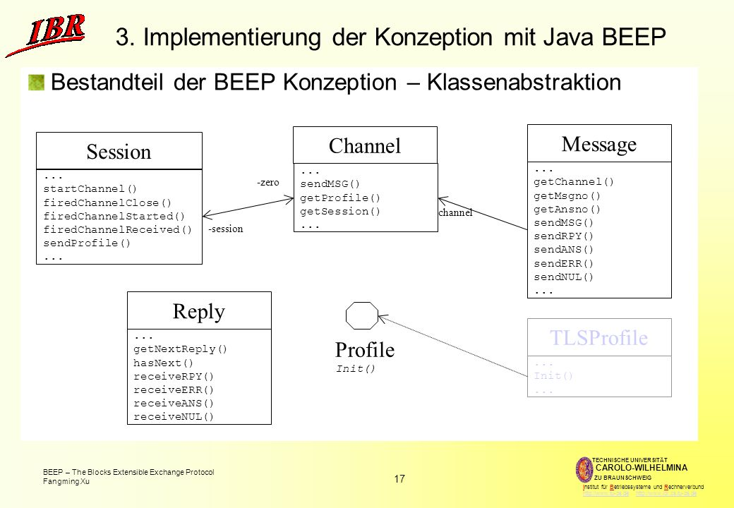 3. Implementierung der Konzeption mit Java BEEP