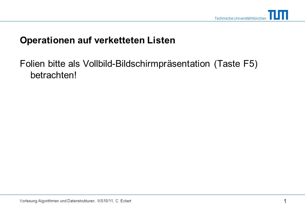 Operationen auf verketteten Listen