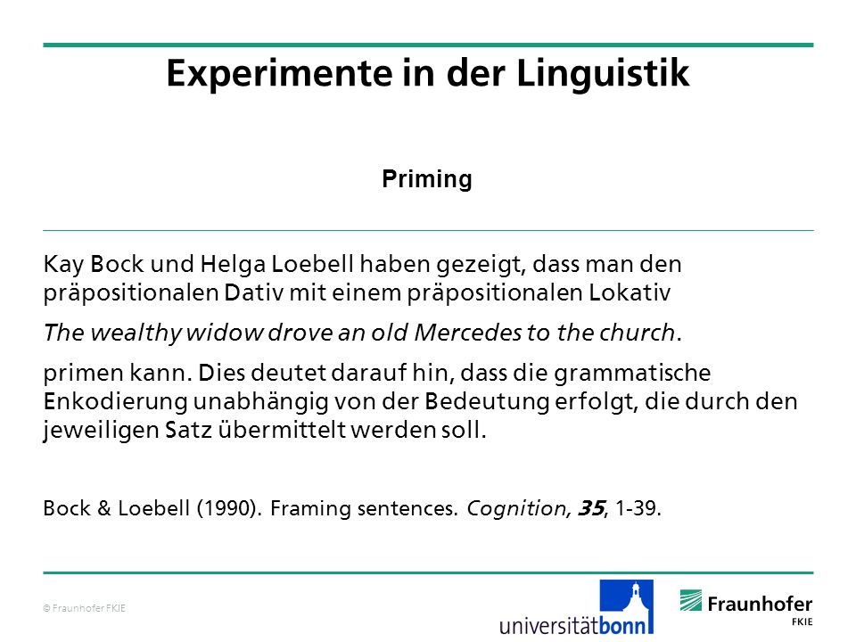Experimente in der Linguistik - ppt video online herunterladen