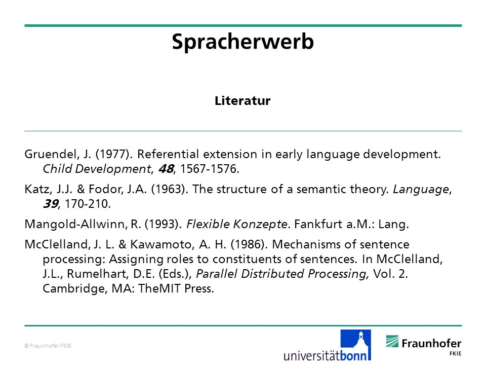 Spracherwerb Literatur