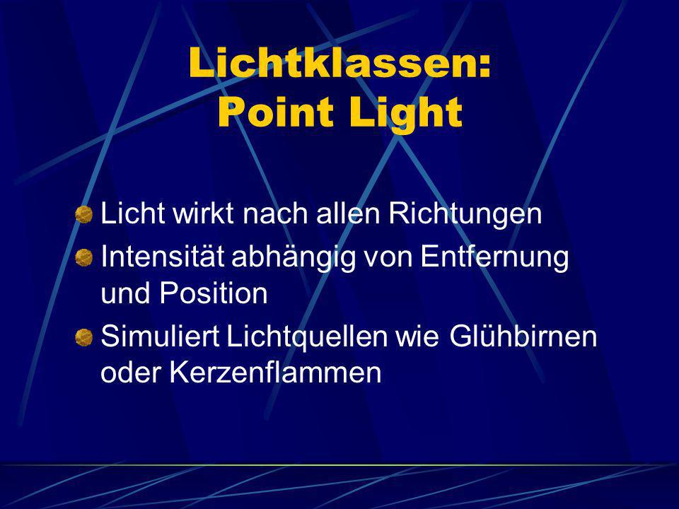 Lichtklassen: Point Light
