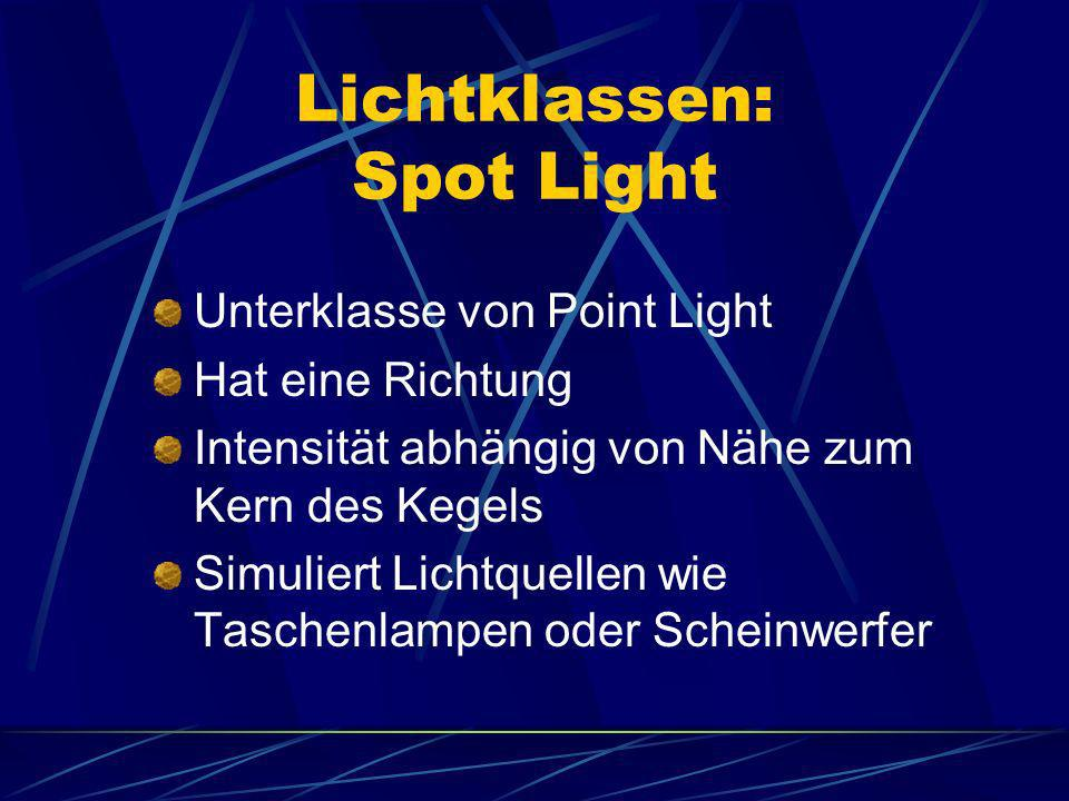 Lichtklassen: Spot Light
