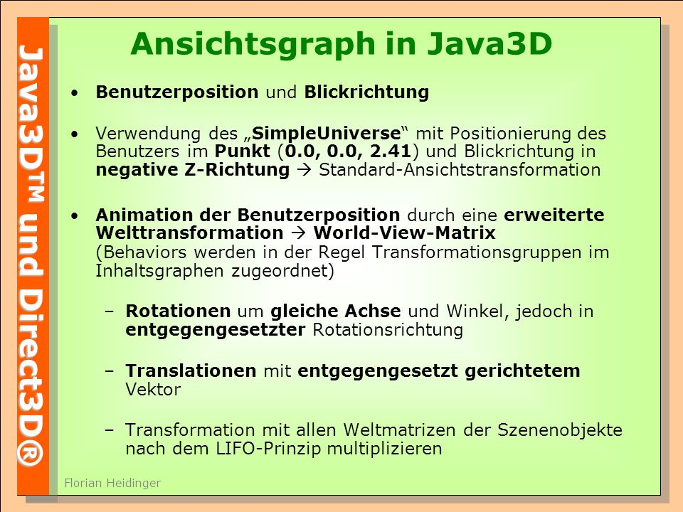 Ansichtsgraph in Java3D