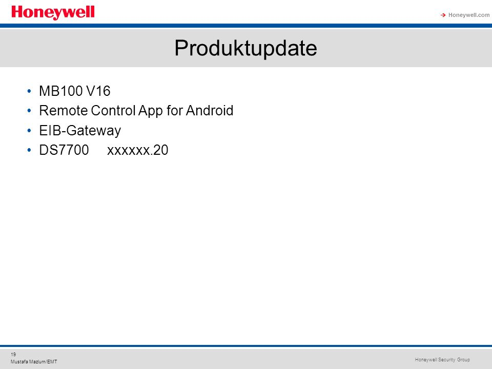 Produktupdate MB100 V16 Remote Control App for Android EIB-Gateway