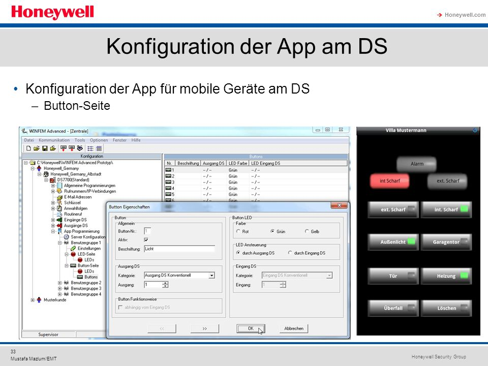 Konfiguration der App am DS