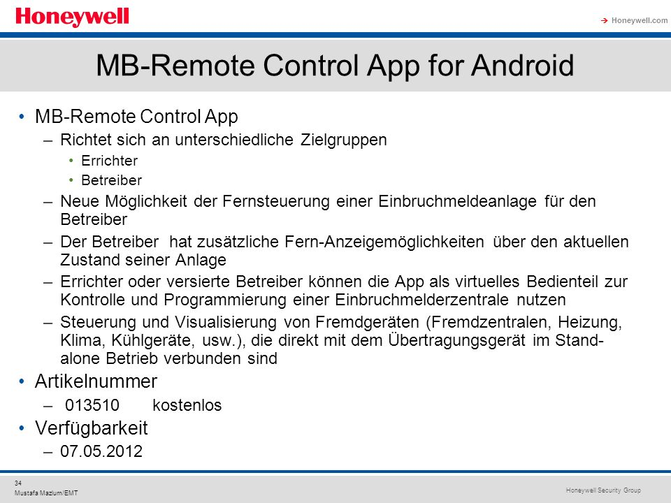 MB-Remote Control App for Android