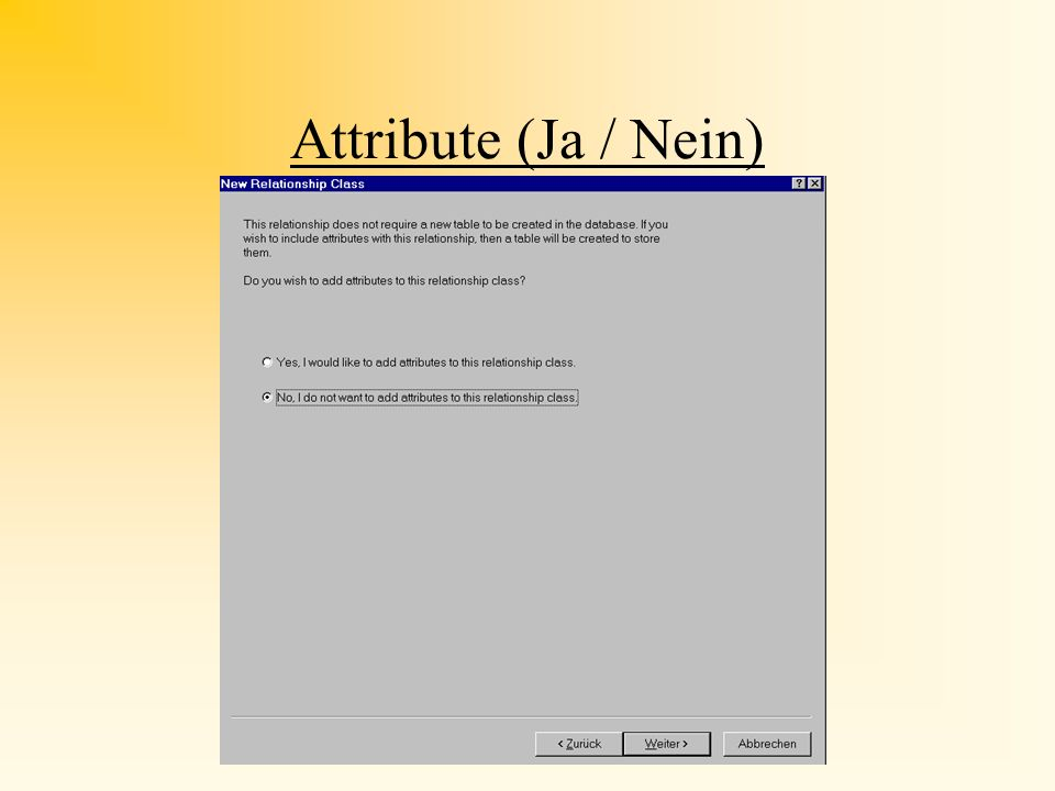 Attribute (Ja / Nein)