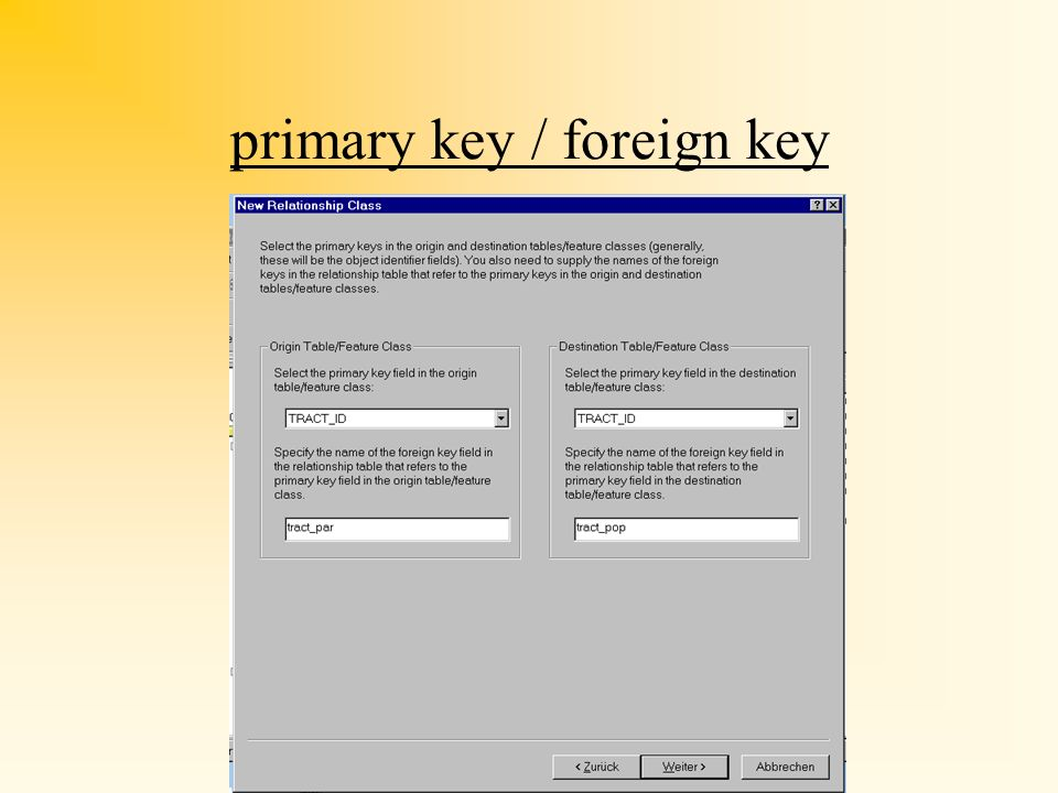 primary key / foreign key