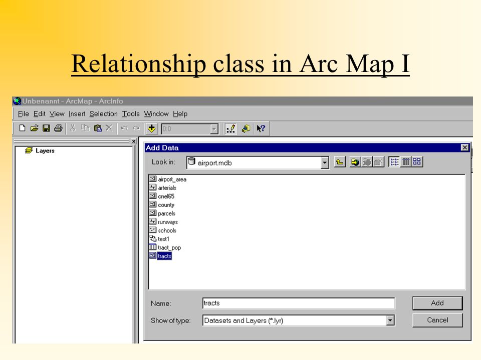 Relationship class in Arc Map I