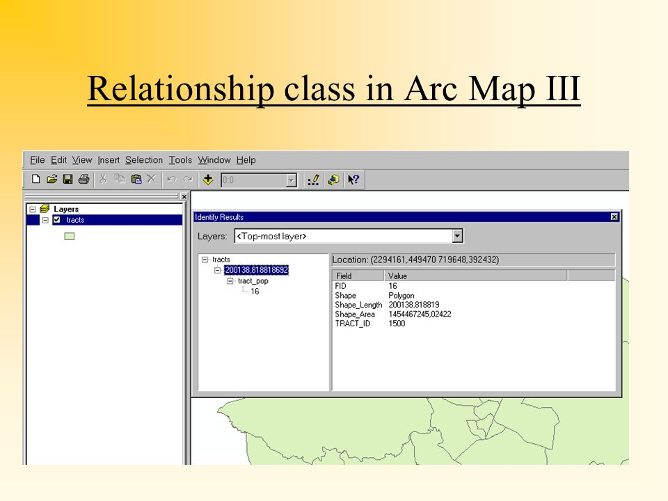 Relationship class in Arc Map III
