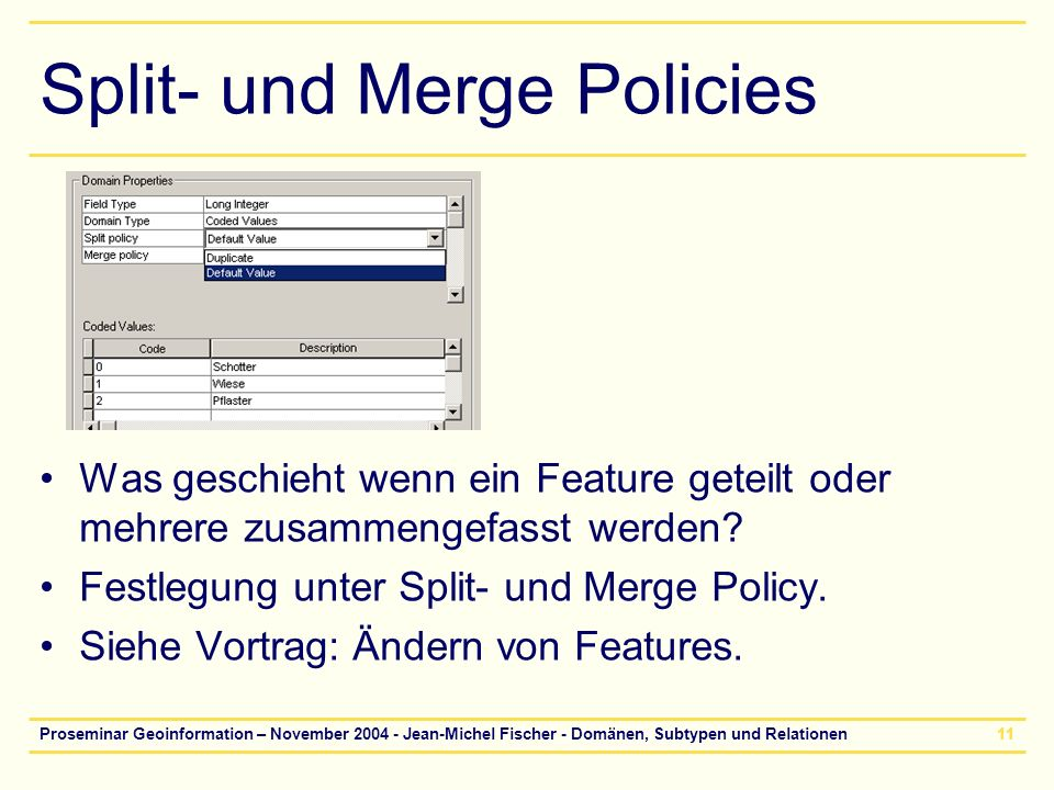 Split- und Merge Policies