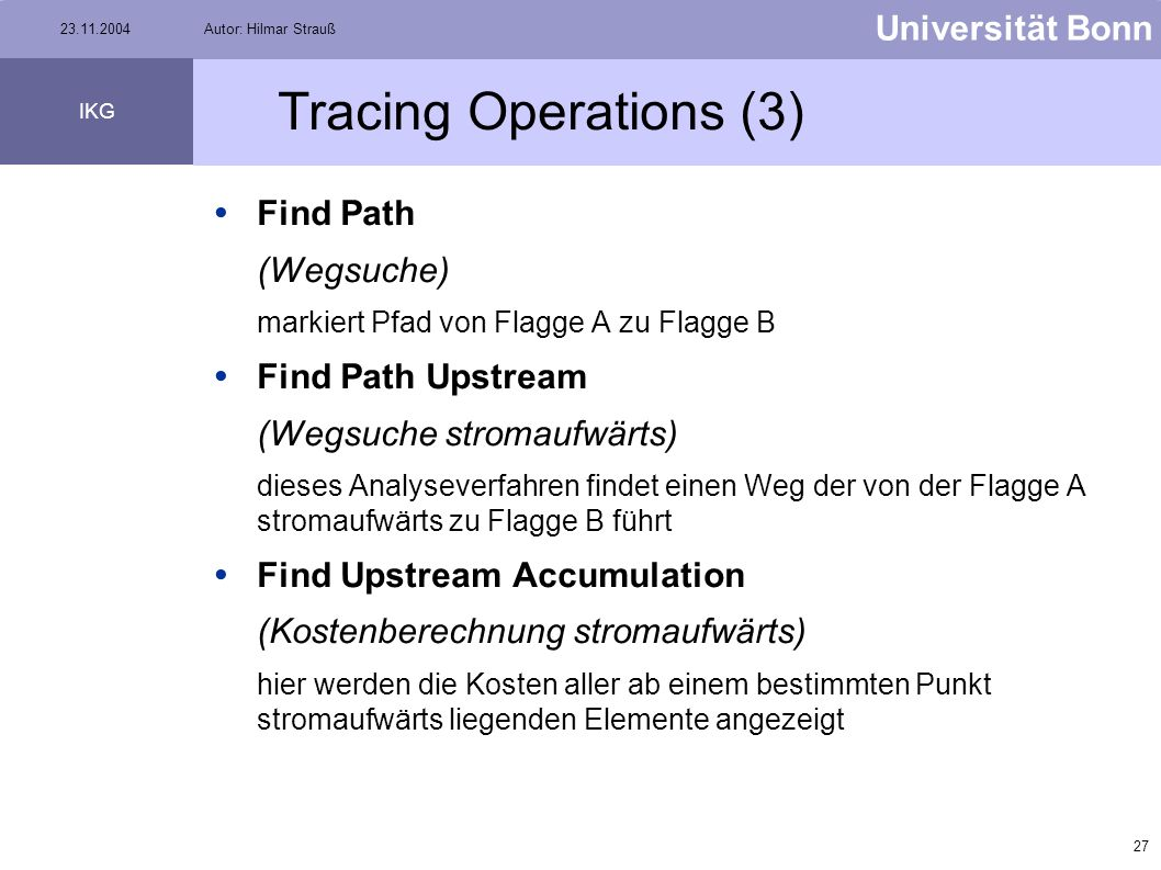 Tracing Operations (3) Find Path Find Path Upstream