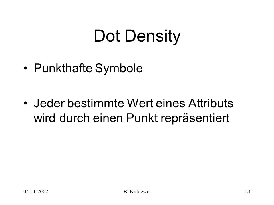 Dot Density Punkthafte Symbole