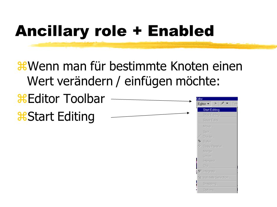 Ancillary role + Enabled