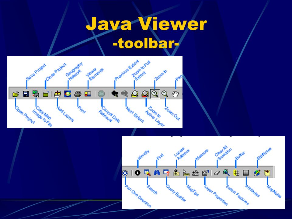 Java Viewer -toolbar-
