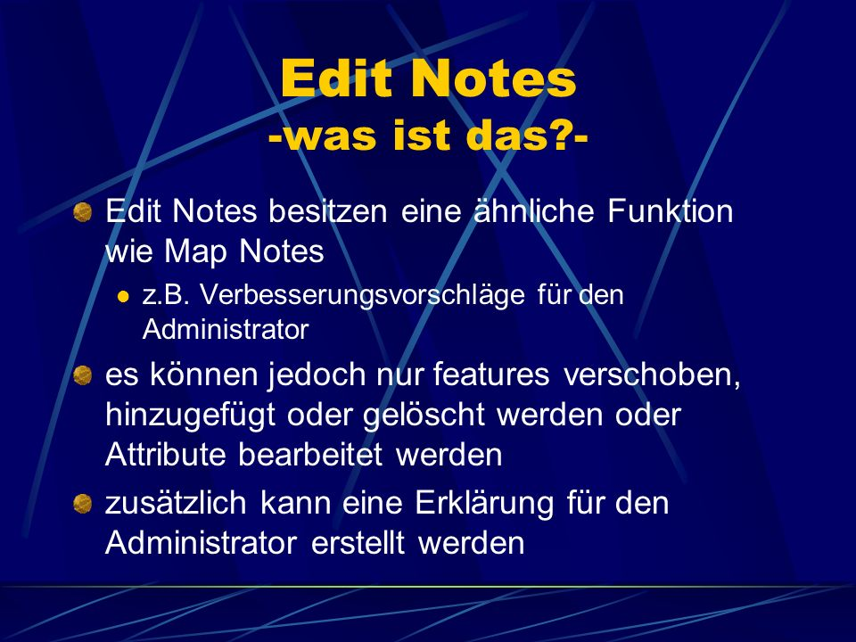 Edit Notes -was ist das -