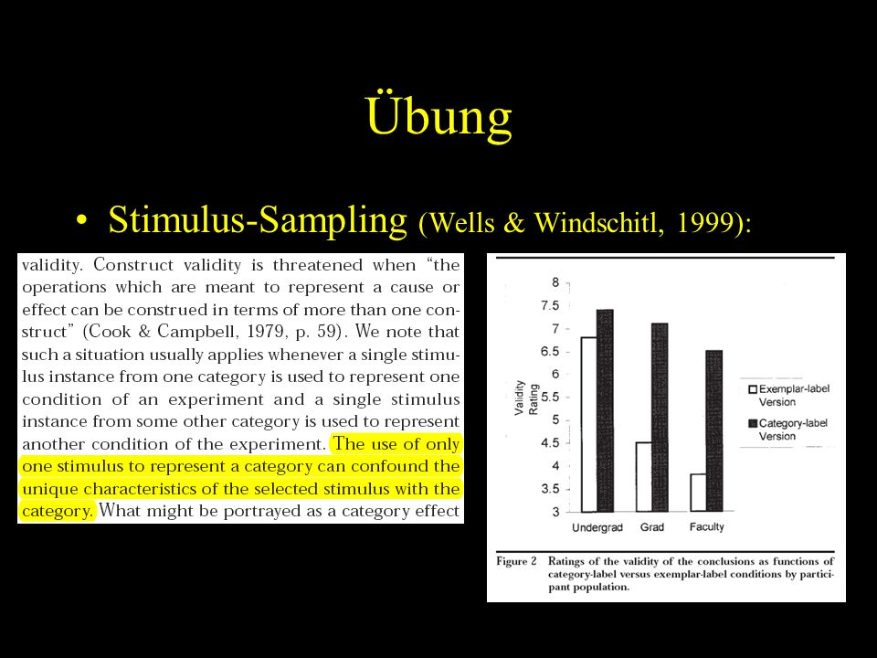 Übung Stimulus-Sampling (Wells & Windschitl, 1999):